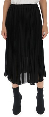 MICHAEL Michael Kors Georgette Pleated Midi Skirt