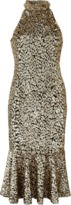 Michael Kors Leopard Trumpet Dress