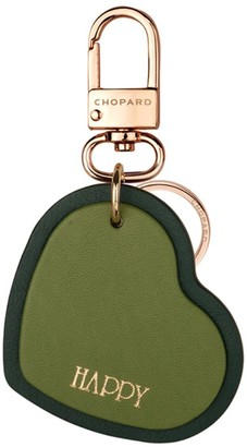 Chopard Leather Happy Hearts Keyring