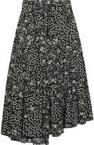 Isabel Marant Grifol Printed Silk-blend Wrap Midi Skirt - Black