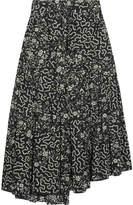 Isabel Marant Grifol Printed Silk-blend Wrap Midi Skirt