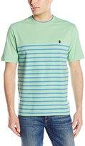 Izod Men's Short-Sleeve Chatham Clique Engineered Stripe T-Shirt