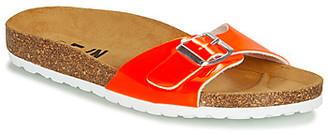 Elue par nous GINELLA women's Mules / Casual Shoes in Orange