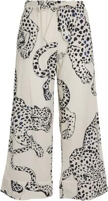 Desmond & Dempsey Jaguar Print Pyjama Bottoms