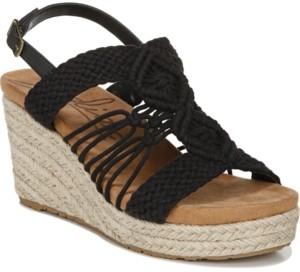 Zodiac Palm Woven Platform Wedge Espadrille Sandals Women's Shoes