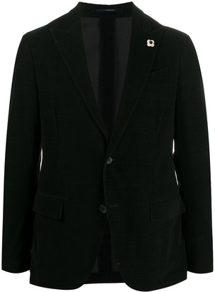 Lardini Single-Breasted Fine Corduroy Blazer