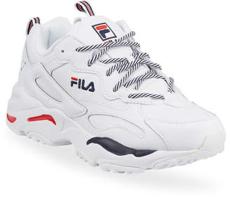 Fila Men's Ray Tracker Mesh & Leather Trainer Sneaker