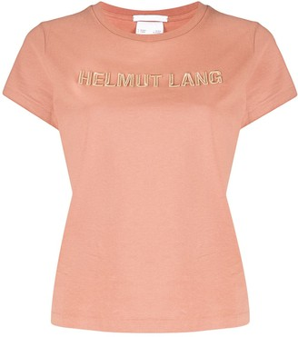 Helmut Lang Baby logo embroidery cotton T-shirt