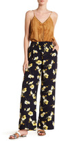 Moon River Floral Lace-Up Palazzo Pant