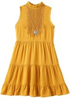 Knitworks Girls 7-16 Tiered Dress with Necklace