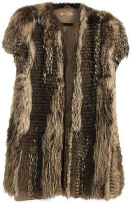 Prada Brown Fox Coat for Women
