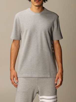 Thom Browne Cotton T-shirt With Stripes