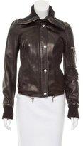 Dolce & Gabbana Shawl Collar Leather Jacket