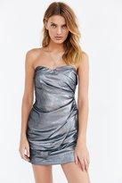 Silence & Noise Silence + Noise Glitter Strapless Mini Dress