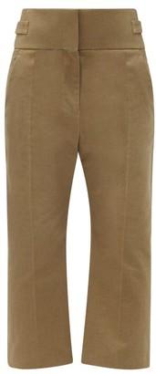 Haider Ackermann Beaumont High-rise Cotton Trousers - Khaki