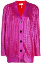 MSGM V-neck lurex cardigan