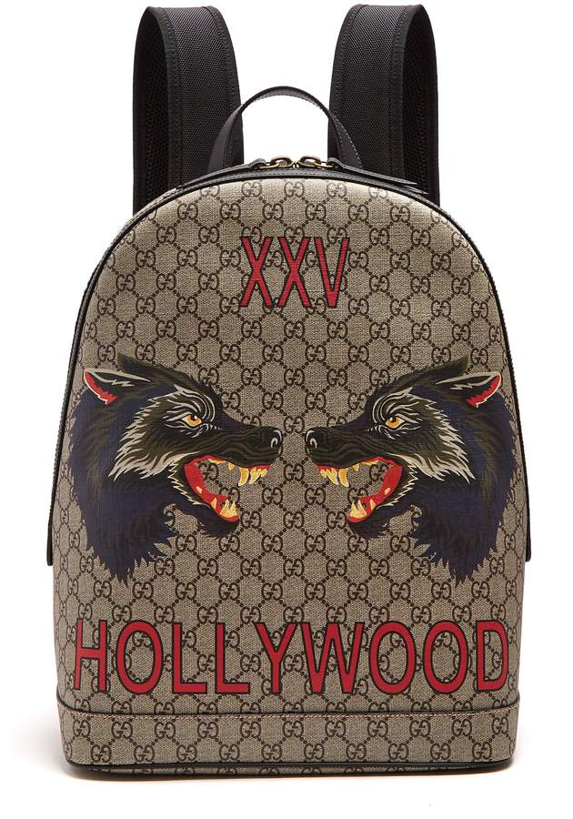 Gucci Wolf GG supreme-print canvas backpack