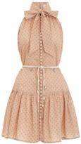 Zimmermann Peggy Bow Tie Short Dress