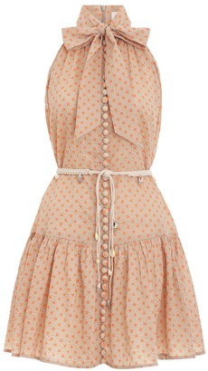 Zimmermann Peggy Bow Tie Short Dress