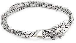 John Hardy Legends Naga Silver and Blue Sapphire Multi Chain Bracelet