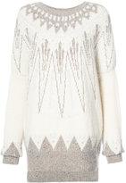 ADAM by Adam Lippes Marled wool cashmere fair isle sweater