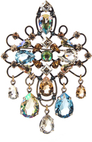 Lanvin Ginger crystal-embellished brooch