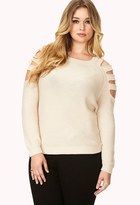 Forever 21 Cutout Shoulder Sweater