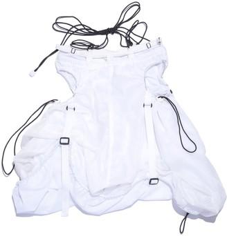 Shii Said Double Layered Drawstring Skirt In White