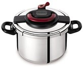 Tefal Clipso Plus Stainless Steel Pressure Cooker, 6 L - Silver