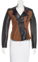 3.1 Phillip Lim Leather-Accented Wool Jacket