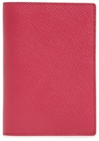 Smythson Panama Calfskin Leather Passport Holder - Pink