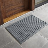 "Crate & Barrel Thirsty Dots TM Slate 34""x22"" Doormat"