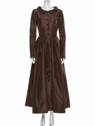 Oscar de la Renta Long Dress Brown