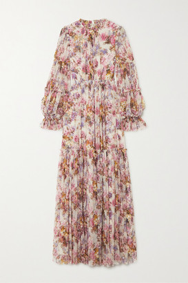 Needle & Thread Jasmine Hemsley Harmony Sequin-embellished Floral-print Tulle Gown - Ecru