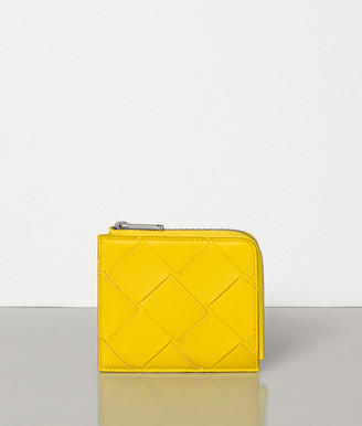 Bottega Veneta SMALL ZIP AROUND WALLET IN INTRECCIATO NAPPA
