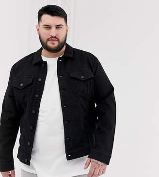 ONLY & SONS denim jacket in black