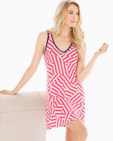 Soma Intimates Cool Nights Sleep Chemise Flag Stripe Rouge