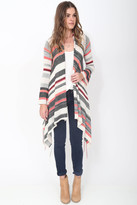 Goddis Linsey Hooded Wrap w/ fringe in Tango