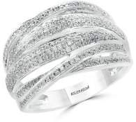 Effy Diamond and Silver Band Ring