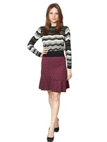 M Missoni Striped Viscose And Wool Sweater
