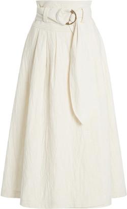 Mara Hoffman Esperanza Organic Cotton-Linen Midi Skirt