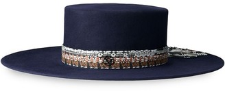 Maison Michel Wide Brim Canotier Hat