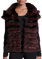 Tory Burch Blaire Fox Fur Vest