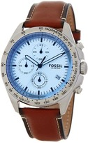 Fossil Men's Sport Chronograph Leather Strap Watch