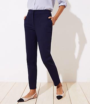 LOFT High Waist Skinny Ankle Pants in Curvy Fit