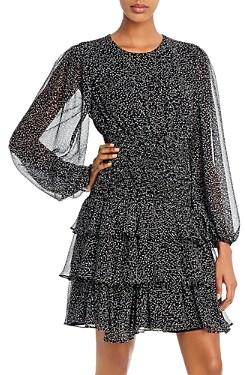 Bardot Elaina Blouson-Sleeve Tiered Dress