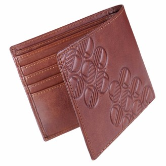 Drew Lennox Luxury English Leather Men's Billfold Wallet in Rich Brown