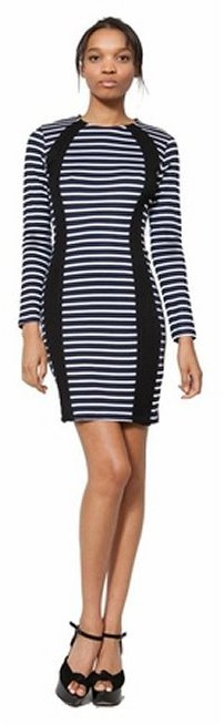 Wren CONTRAST FITTED DRESS