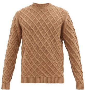 Dunhill Lattice-cable Cashmere Sweater - Beige