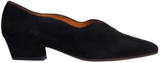 Chie Mihara Rocal Ballet Flats In Black Suede
